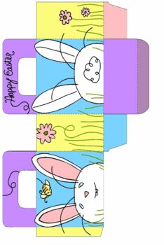 Easter Bunny Bag 2, Easter, Favor Box - Free Printable Ideas from Family Shoppingbag.com: