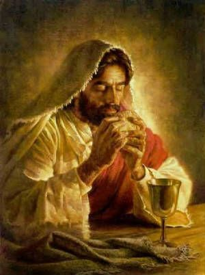 "Jesus took bread, gave thanks and broke it, and gave it to them, saying, ""This is my body given for you; do this in remembrance of me."" In the same way, after the supper he took the cup, saying, ""This cup is the new covenant in my blood, which is poured out for you.""   Luke 22:19-20"
