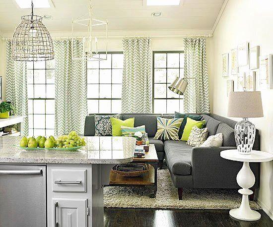 Bedroom Yellow Sofa Lovely Cream Walls Gray Couch Modern Living Room Ruang Tamu Rumah Ide Dekorasi Rumah Ruang Tamu Modern