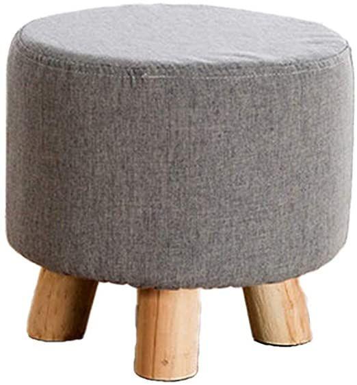 Furniture Creative Simple Footstool Low Footstool Office Use Living Room Bedroom Decorative Stool Linen Cover Solid Decorative Stool Living Room Bedroom Stool
