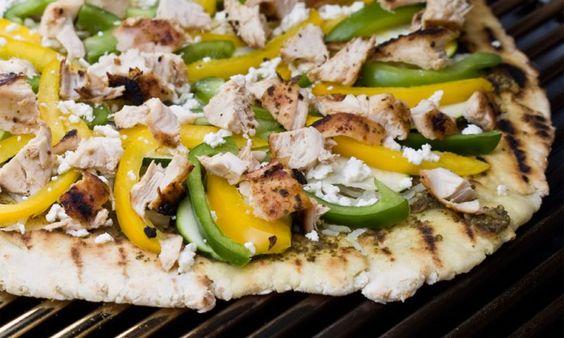 Leckere Pizza grillen