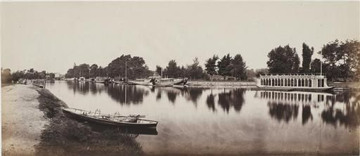 Barges at Oxford 1862