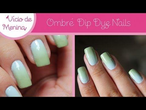Ombré Dip Dye Nails - Vício de Menina - YouTube