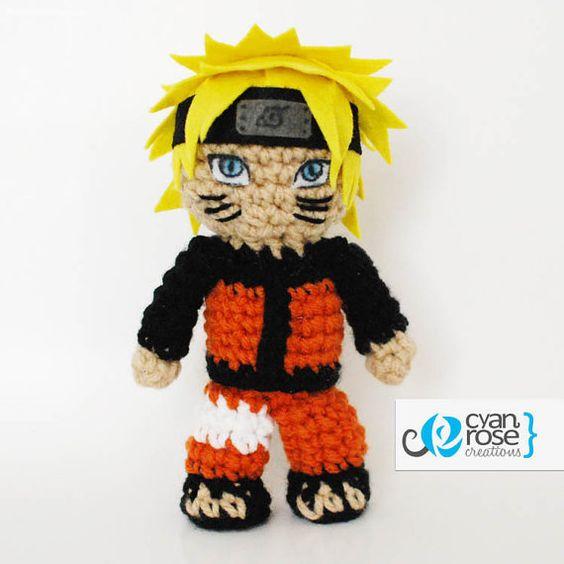 Amigurumi Naruto Pattern : Hinata and Naruto set - Crochet Plush Amigurumi Dolls ...