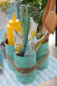soup can caddy, diy home crafts, repurposing upcycling, Perfect BBQ caddy