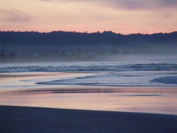 Ohiwa Beach at sunset - June 2014 - beautiful :)