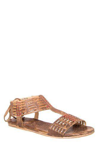 Bed:Stu Candice Flat Sandal - Tan Lux