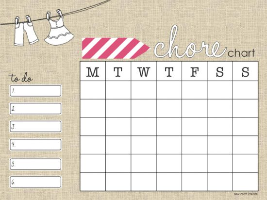 Free Chore Chart download
