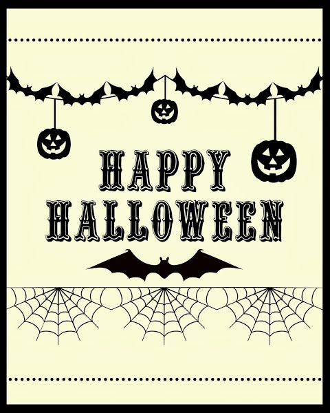 Free Happy Halloween Printable @ Blissful Roots