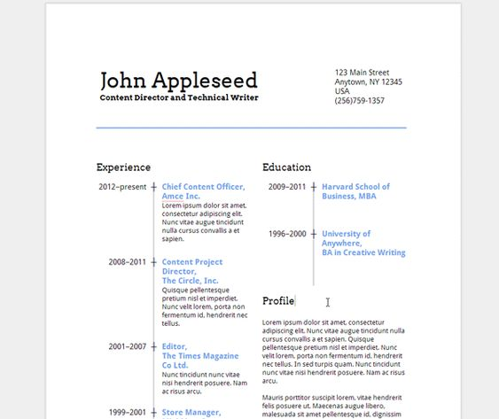 Create an Eye-Catching Resume in Google Docs Job Search - how to make a resume on google docs