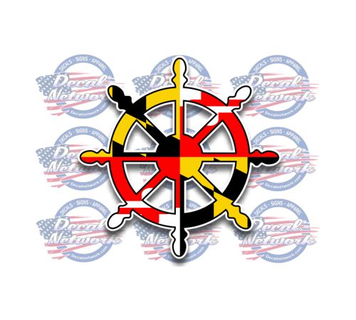 Maryland Flag Ships Wheel Decal Custom Vinyl Decals Pinterest - Custom vinyl decals design online