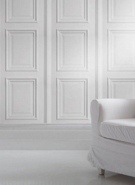 White Wood Paneling For Walls : Panelling wallpapers and white wood on pinterest