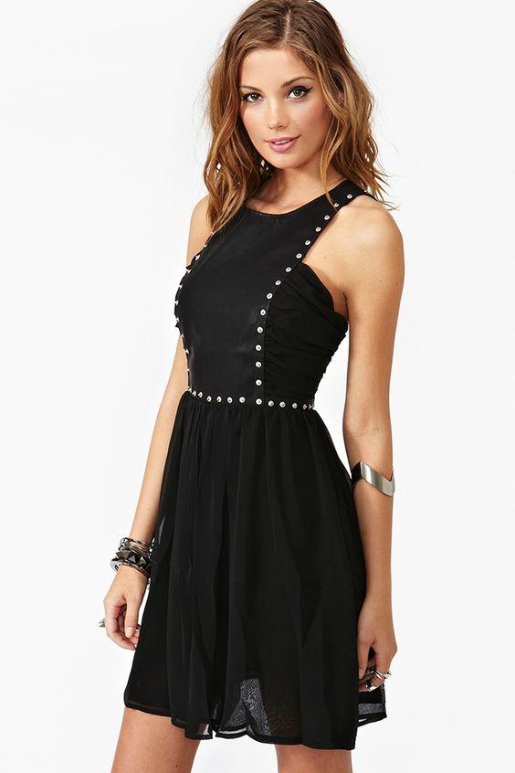 Riveted Dress - Nasty Girl