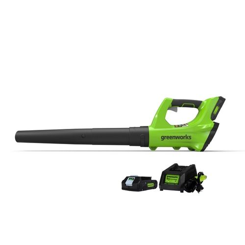 Greenworks 24 Volt Lithium Ion 330 Cfm 100 Mph Cordless Electric Leaf Blower Battery Included At Lowe S Perfect For The Homeown Leaf Blower Outdoor Power Equipment Building A Deck