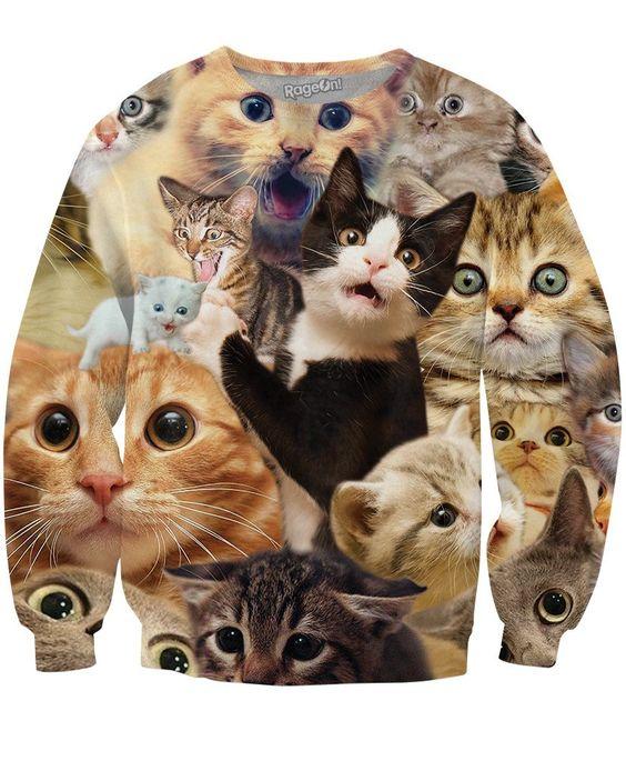 Surprised Cats Crewneck Sweatshirt