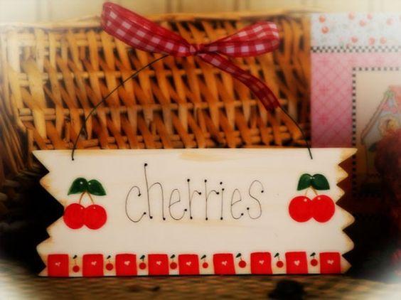 Cherry Kitchen Decor CHERRIES Whimsical By CountryCraftHeavenSt, $5.00    Kitchen   Pinterest   Cherry Kitchen Decor, Cherry Kitchen And Kitchen Decor