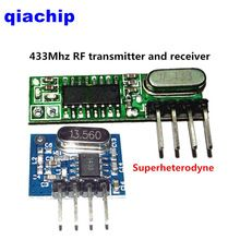 1set 2pcs superheterodyne 433Mhz RF transmitter and receiver Module kit small size low power for Arduino/ARM/MCU diy kit      USD 1.98/pairUSD 2.50/pieceUSD 7.99/setUSD 1.25/pieceUSD 0.99/setUSD 7.60/setUSD 2.50/pieceUSD 9.20/piece  1set 2pcs superheterodyne 433mhz rf Wireless transmitter and receiver Module kit small size low power For Wireless Power switch socket remote control LED electric doors Etc.       Package Included:    ...    US $0.99…