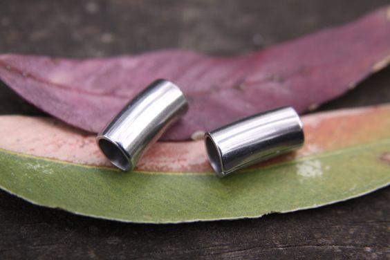 2 Stainless Steel Tube 6.5mm Hole Dreadlock Bead Dread beads locs (Hole size…