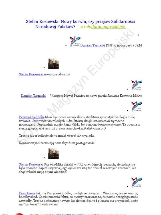 I'm reading Stefan Kosiewski 20110613 Nowy korwin, czy przejaw Solidarności Narodowej Polaków ...z młodymi naprzod iść on Scribd http://wp.me/p7kyF-Da Takich lekarzy nam potrzeba w kraju!:
