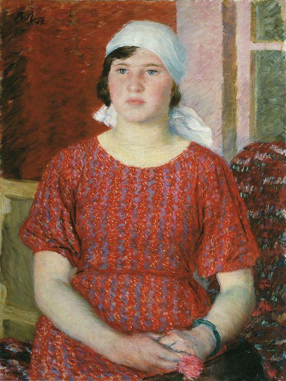 Лебедев В. В., «Рабфаковка с портфелем» 1937