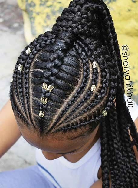 Quick And Easy Braided Hairstyles Braidedhairstyles Braided Ponytail Hairstyles Cornrow Hairstyles Hair Styles