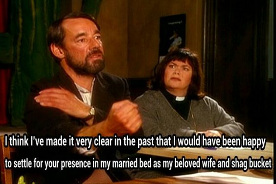 Wrong episode but still funny.  Vicar of Dibley. BBC