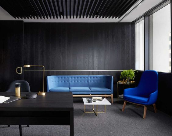 Corporate Office Space Mid Century Modern Hype | Mim Design Creates Office for Landream | Yellowtrace: