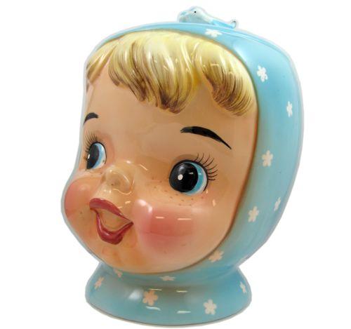 Vintage Ceramic Miss Cutie Pie Cookie Jar.