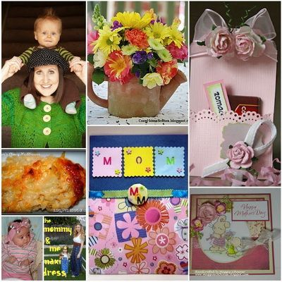 Mother's Day Ideas- food, flowers, crafts, no-sew, scrapbook page, card and more!