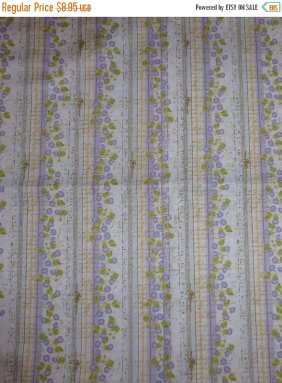 50% OFF FINAL SALE Blue Morning by Iron Orchid for Clothworks, By the Yard, 44/45 Inches Wide, Morning Glories