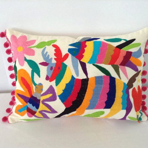 This listing is for 2 pillow covers. ---------------------------------------------------------  ON SALE - Super cute and colorful pillow cover