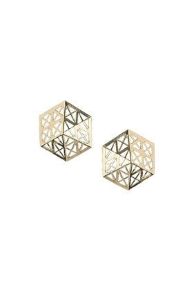 Cut Out Hexagon Earrings - Jewelry  - Bags & Accessories