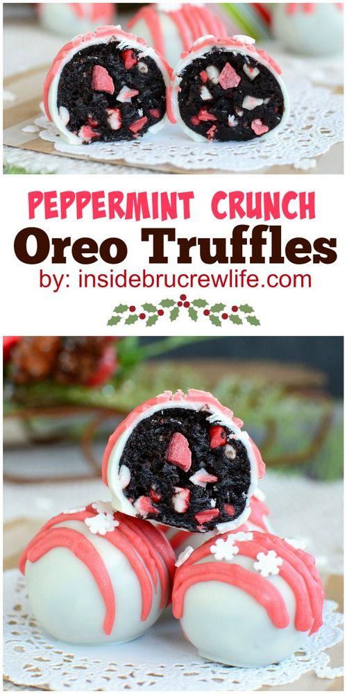 Peppermint Crunch Oreo Truffles | Recipe | Oreo Truffles, Truffles and ...
