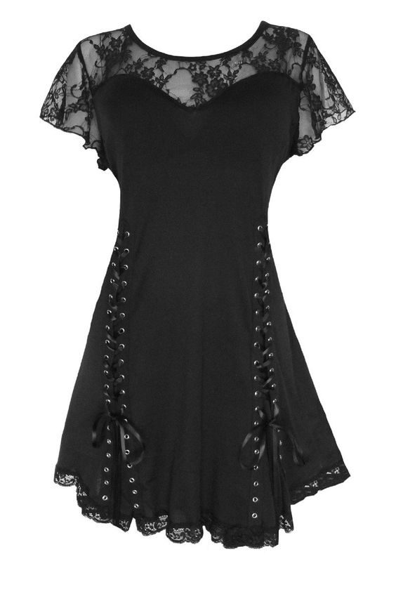 Dare To Wear Victorian Gothic Women's Plus Size Roxanne Corset Top at Amazon Women's Clothing stor: