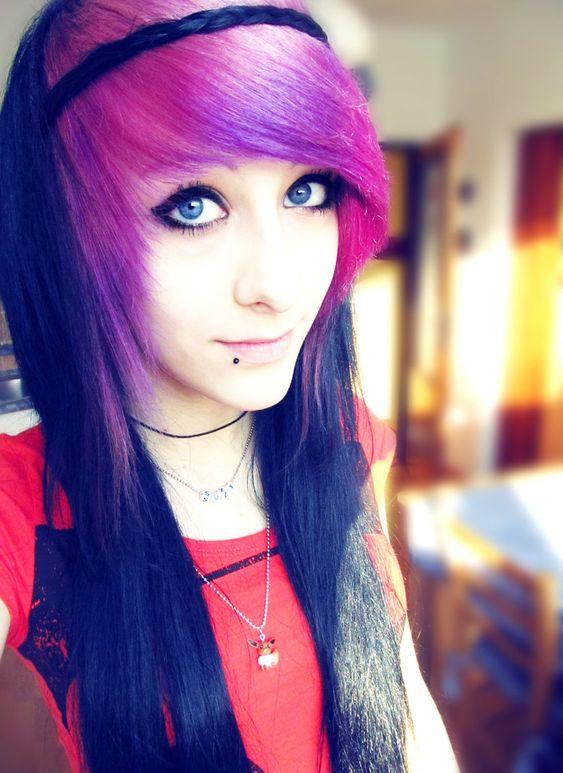 Wondrous Purple Bangs And Tumblr Girls On Pinterest Short Hairstyles Gunalazisus