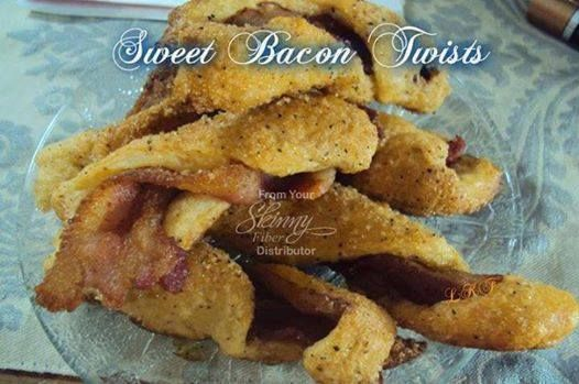 Photo: ✿´¯`* *¸¸✿ SHARE to SAVE ✿´¯`* *¸¸✿  Any bacon lovers out there?   SWEET BACON TWISTS    3 Tbsp. brown sugar... 1/2 tsp. black pepper 1/4 tsp. cayenne pepper 1 can crescent rolls ( leave out if on low carb ) bacon  Preheat oven 375º F. Coat baking sheet with cooking spray. Fry bacon to half cook it. You want it to be bendable and not crisp. Remember, it will finish cooking in the oven. Mix together dry ingredients in a small bowl. Unroll crescent and cut each double section into three…