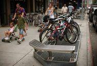 Raised sidewalk grates keep New York subways from flooding.