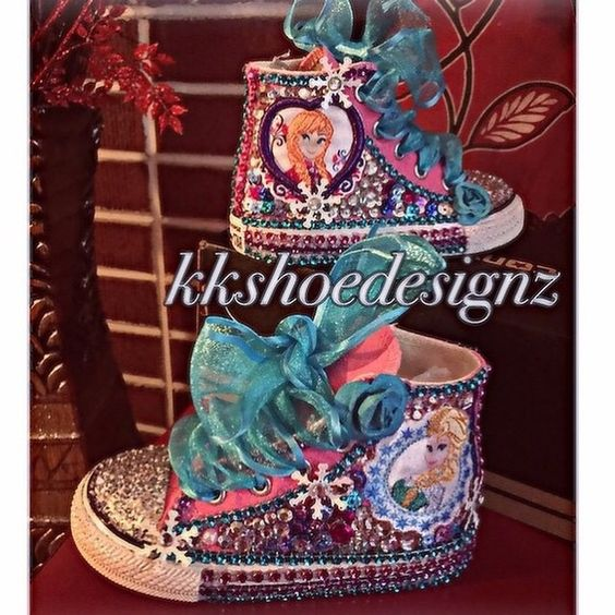 Custom converse Frozen theme can be made any size!! Converse Shoes
