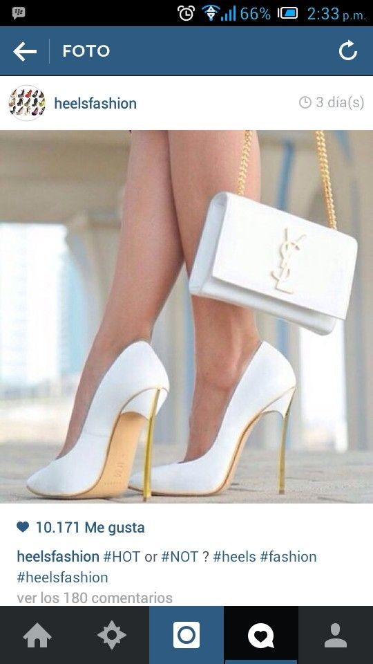 ysl new collection bags - Cute all white heels and handbag ?? | shoes | Pinterest | White ...