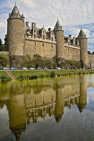Josselin Chateau castle facade, dating from the 16th century, Josselin…