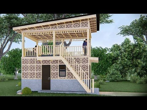 Small House Design With Covered Roof Deck Half Amakan Youtube House Design House Deck Small House