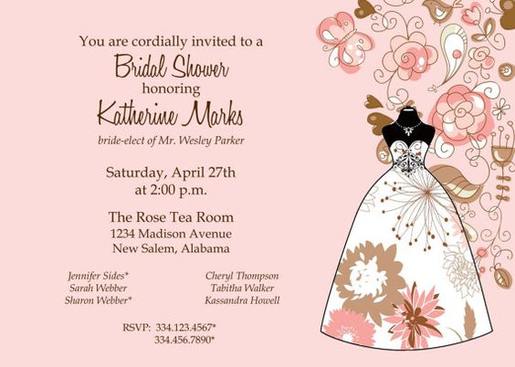 Bridal Shower Invitation by SimplySouthernbyD on Etsy, $8.90