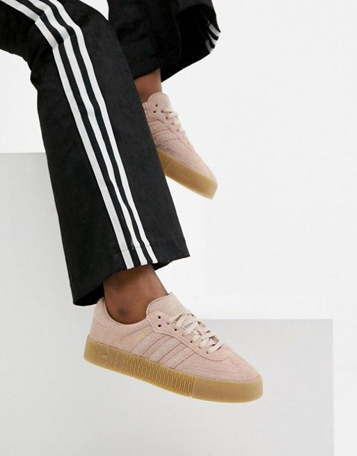 Womens adidas Originals Sambarose Trainers In Icey Pink