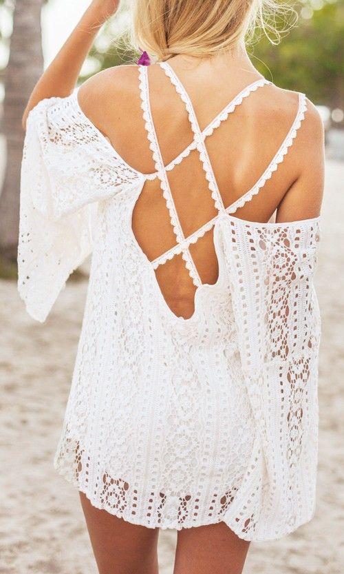 Crisscross Cold Shoulder Tunic: