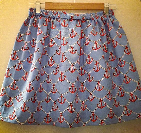 RESTOCKED Lilly Pulitzer Anchors Away Skirt by PreppyPinkShop, $69.99