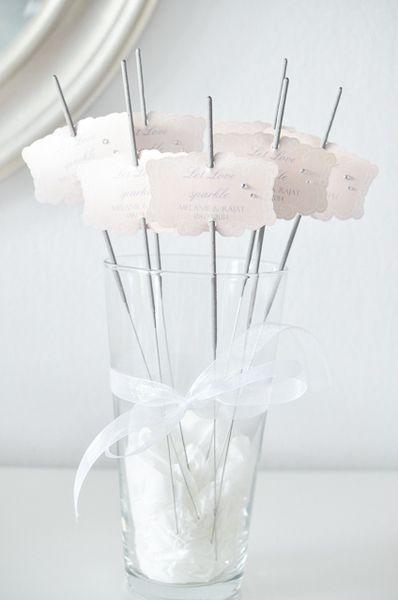 """Hochzeitsdeko - 2 Wunderkerzen, Sparkler """"Let the love spa... - ein Designerstück von little-pink-butterfly bei DaWanda"""