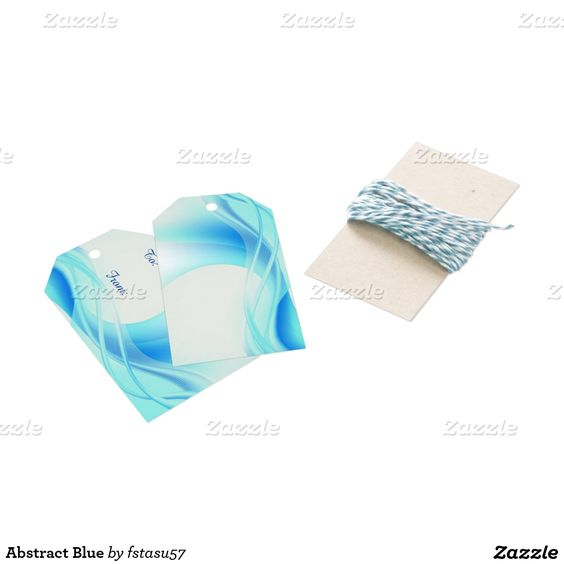 Abstract Blue Pack Of Gift Tags