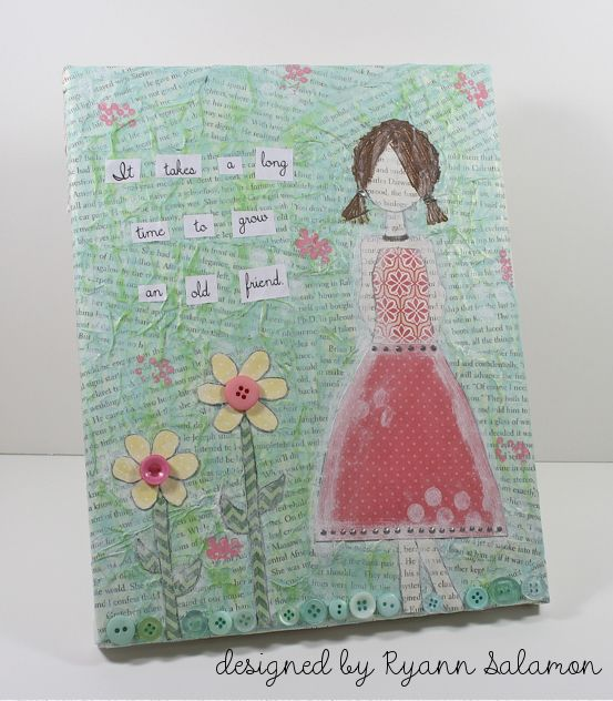 Friendship Mixed Media Canvas with Jacquard Lumiere