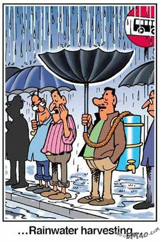 Rainwater harvesting cartoon from India Times