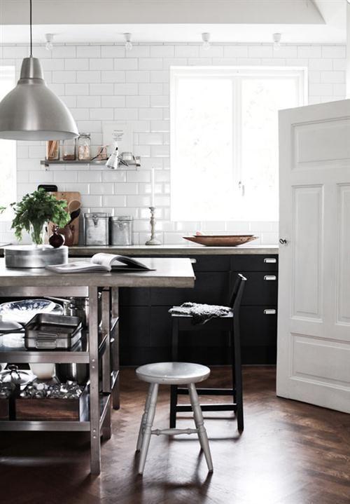 Cocina en Blanco y Negro!